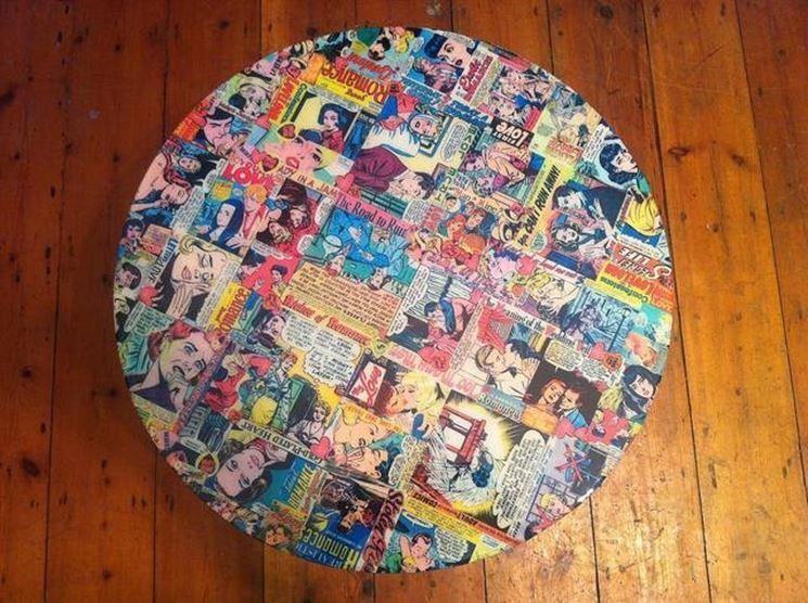 Arredare con il decoupage: abbellire un tavolo - Decoupage