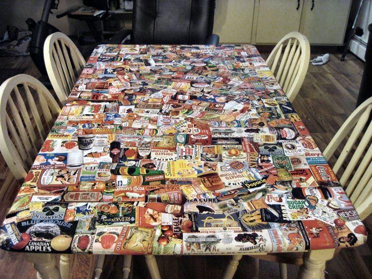 decoupage su tavolo