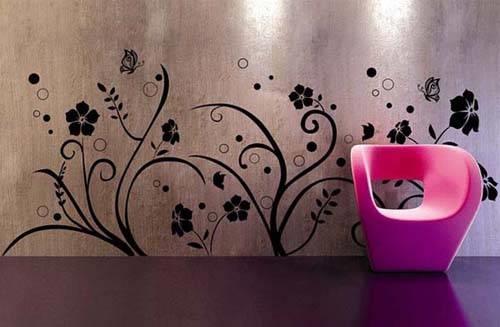 decorare le pareti - decoupage - Come Decorare Una Parete Di Casa