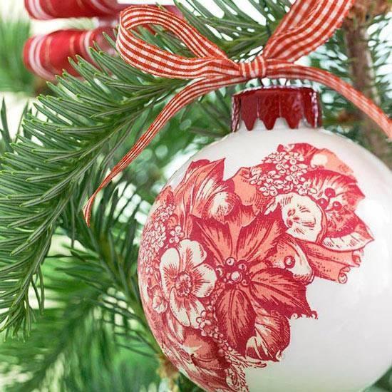 Decorazioni natalizie con il decoupage decoupage - Decorazioni decoupage ...