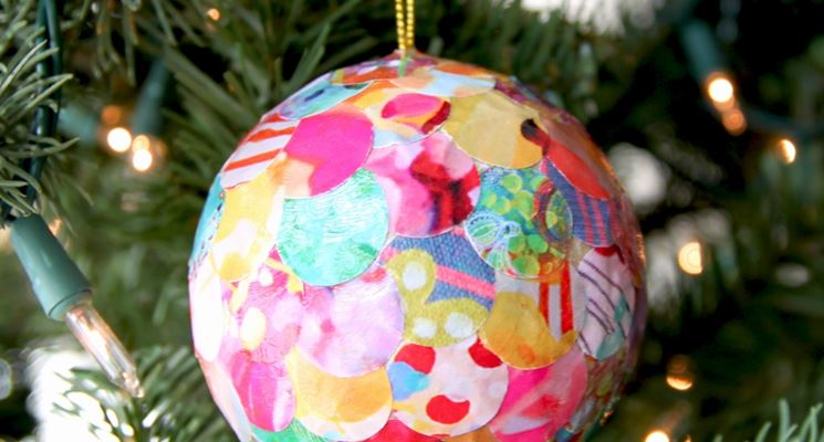 pallina di Natale decoupage