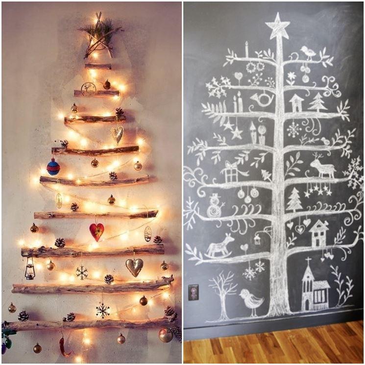 alberi di Natale a parete