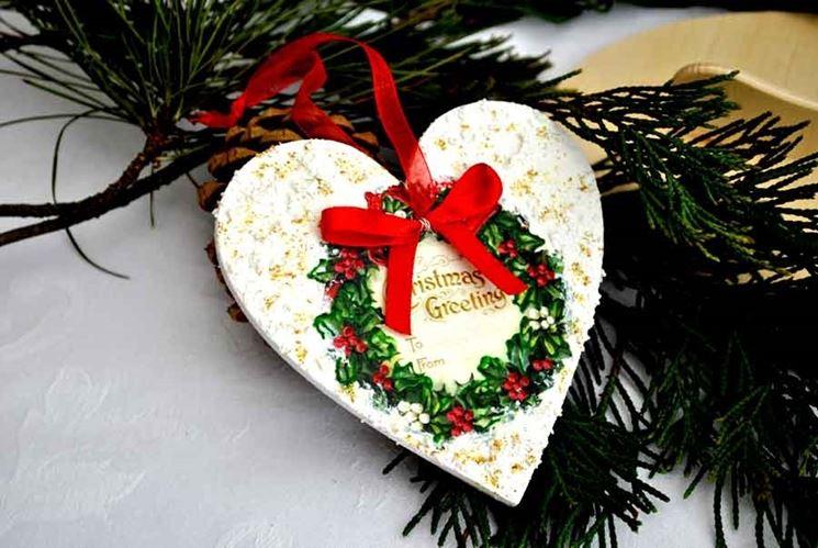 Decorazioni natalizie fai da te decoupage for Decorazioni da tavolo natalizie