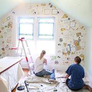 Decoupage pareti salone