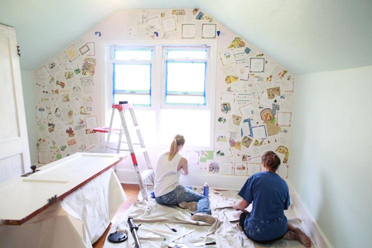 Rivestimento pareti interne - Decoupage - Come rivestire le pareti interne