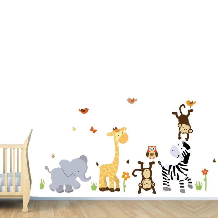Stencil bambini con animali