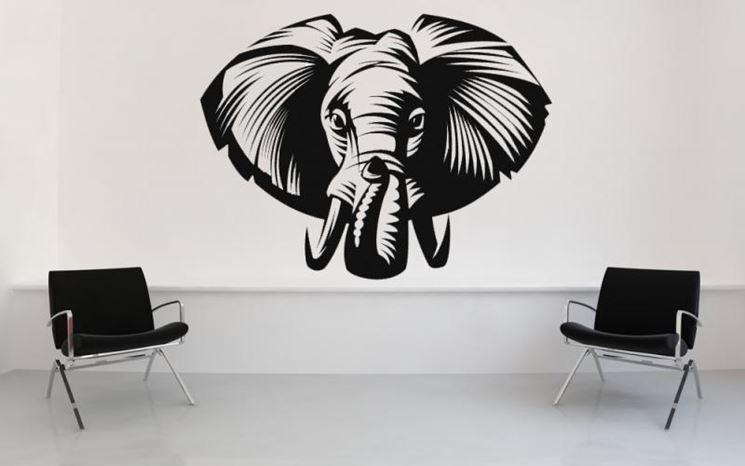 Stencil elefante