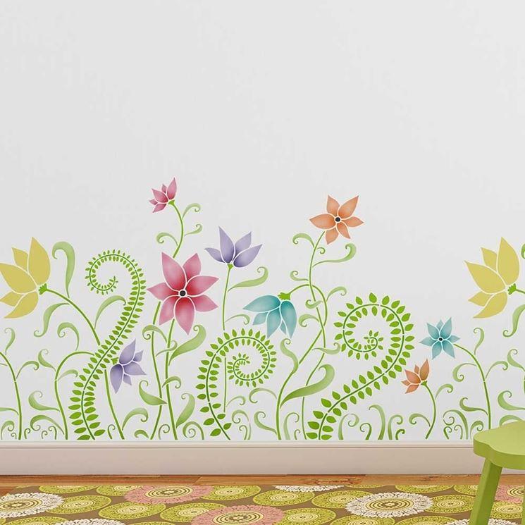 Decorazione floreale per bambini