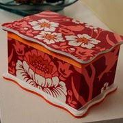 scatola decoupage