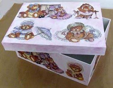 Una scatola che arreda decoupage - Costruire un portagioie ...