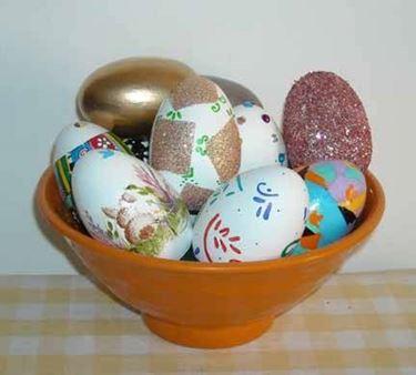 Uova di pasqua decoupage