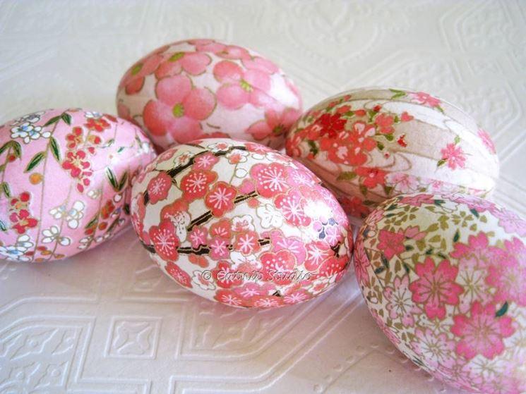 uova di pasqua - decoupage - Uova Di Pasqua Fai Da Te Carta