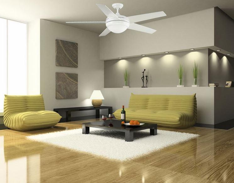 ventilatore da soffitto con luce