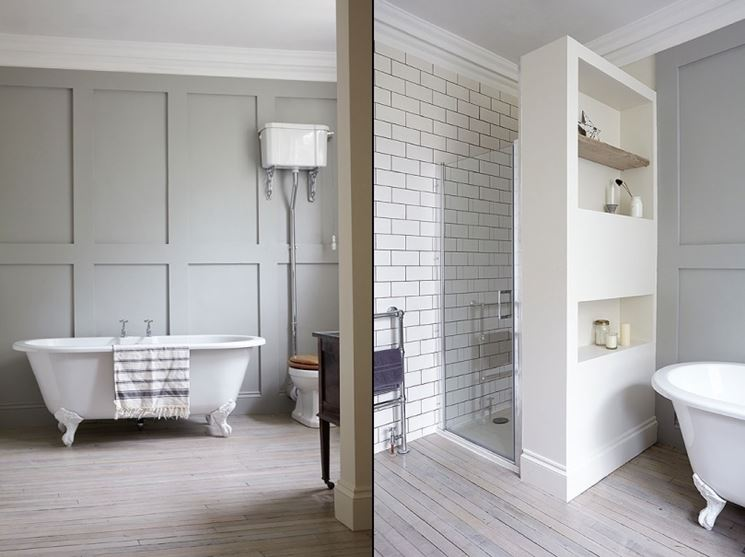 Rivestimento parete legno bianco ts36 regardsdefemmes - Rivestimento bagno shabby ...