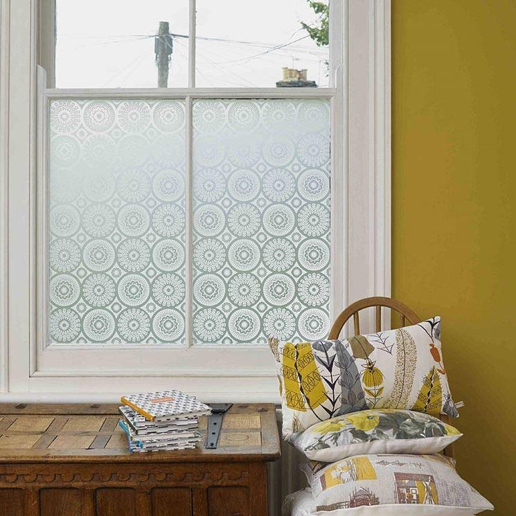 vetro finestra decorato
