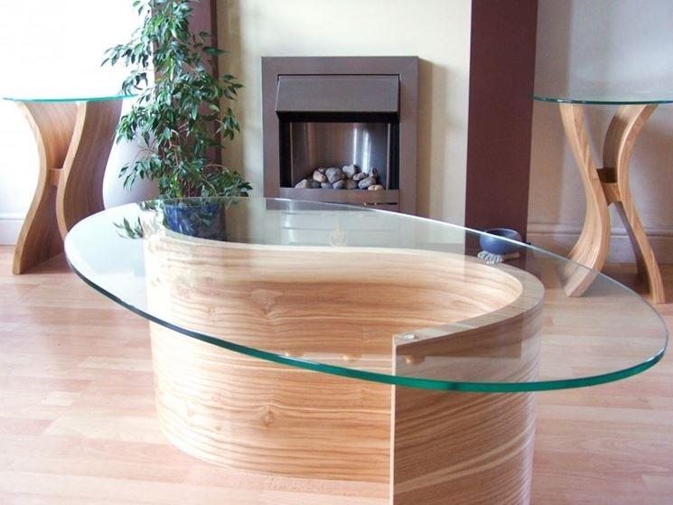 tavolo in legno curvato
