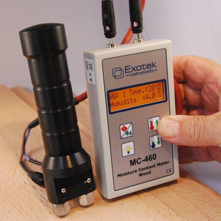 misurare umidità del legno