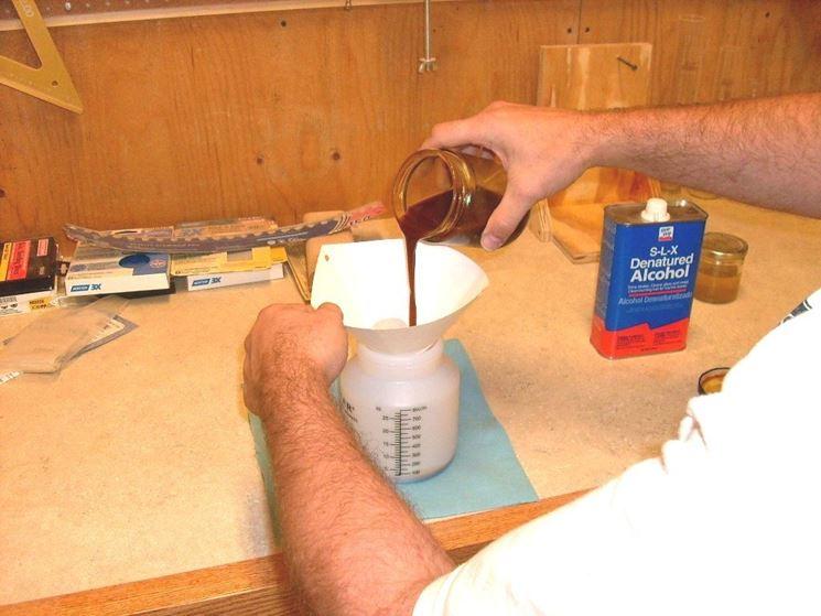 preparazione gommalacca