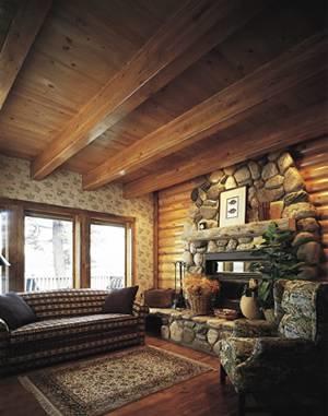 Perline in legno legno caratteristiche delle perline in legno - Casas rusticas por dentro ...