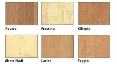 Le tipologie di legno