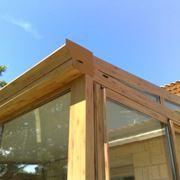 esempio di veranda in legno