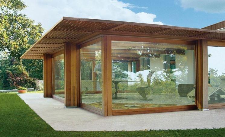 Veranda in legno legno come realizzare una veranda in for Porticos sa