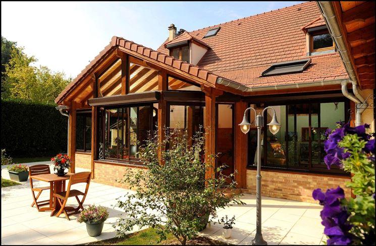 esempio di veranda realizzata in legno