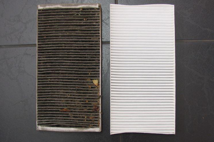 filtro antipolline usato e nuovo