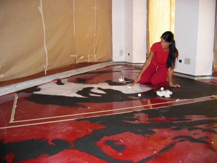 resina per pavimenti artistica