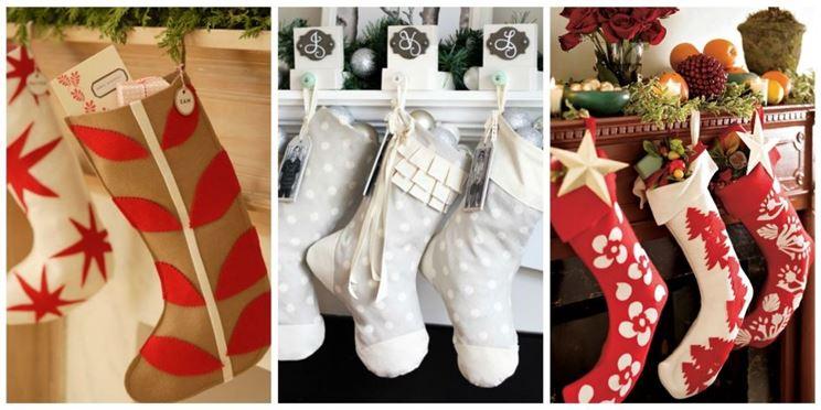 calze per decorare il caminetto