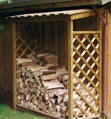 Legnaia fai da te tecniche come costruire una legnaia for Economico per costruire piani di casa