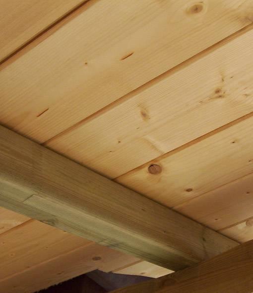 Montaggio perline in legno tecniche cos 39 il montaggio for Perline in legno per pareti prezzi