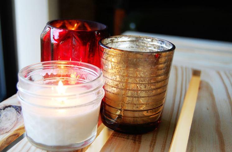 candele fai da te in bicchiere