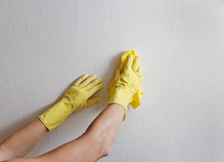 Rimuovere l 39 umidit e la muffa dai muri tecniche - Togliere silicone dalle piastrelle ...
