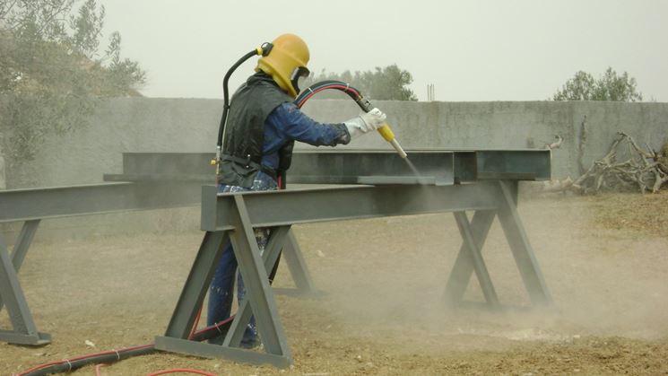 Sabbiatura tecniche come eseguire la sabbiatura for Fai da te ferro