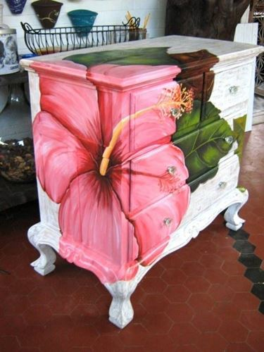 mobili dipinti fiore
