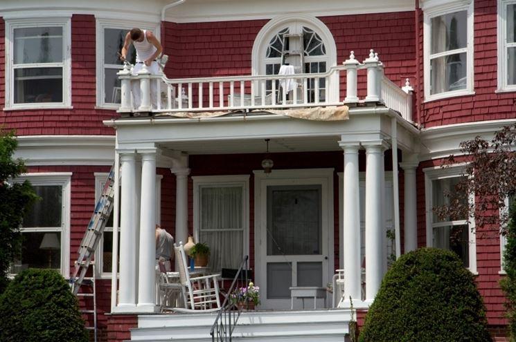 pitturare l'esterno di casa