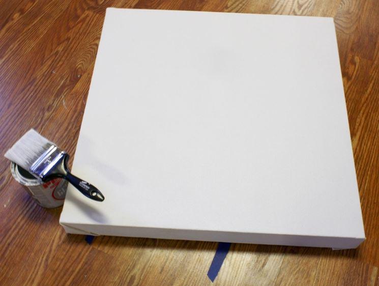 preparare tele per dipingere
