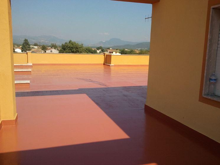 Verniciatura termoriflettente per terrazzi verniciare - Resina pavimento esterno ...
