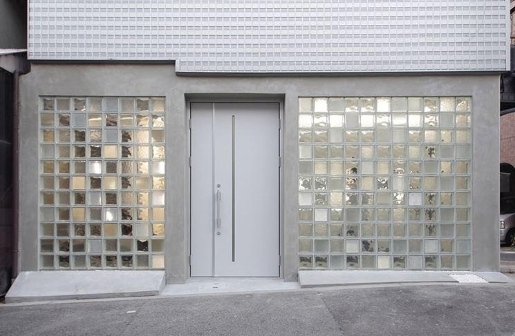 parete in vetro cemento