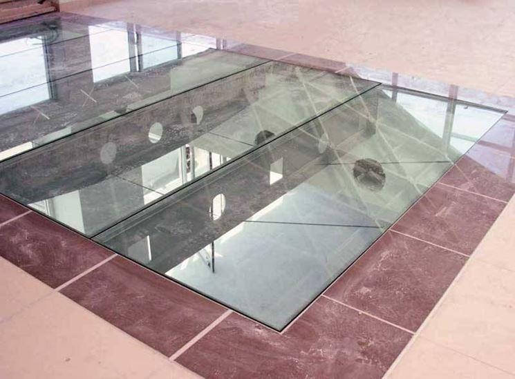 Vetro calpestabile vetro - Piastrelle vetrocemento ...