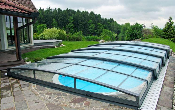 Copertura piscina in policarbonato