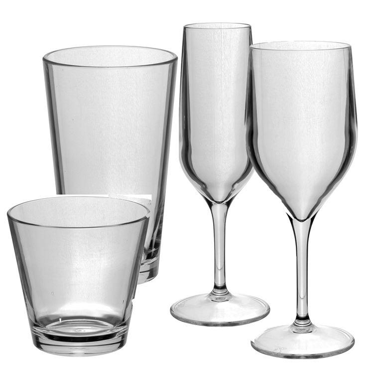 Bicchieri in vetro policarbonato