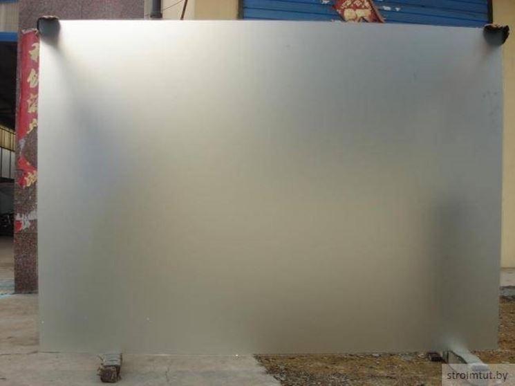 Vetro satinato - Vetro - caratteristiche vetri satinati