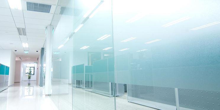 pannelli di vetro satinato