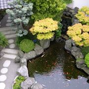 giardino con pietre