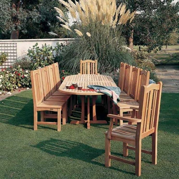 progettazione dell'arredamento di un giardino