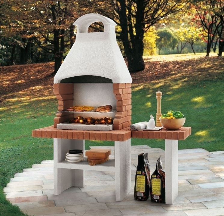 costruire un barbecue professionale in muratura - arredamento