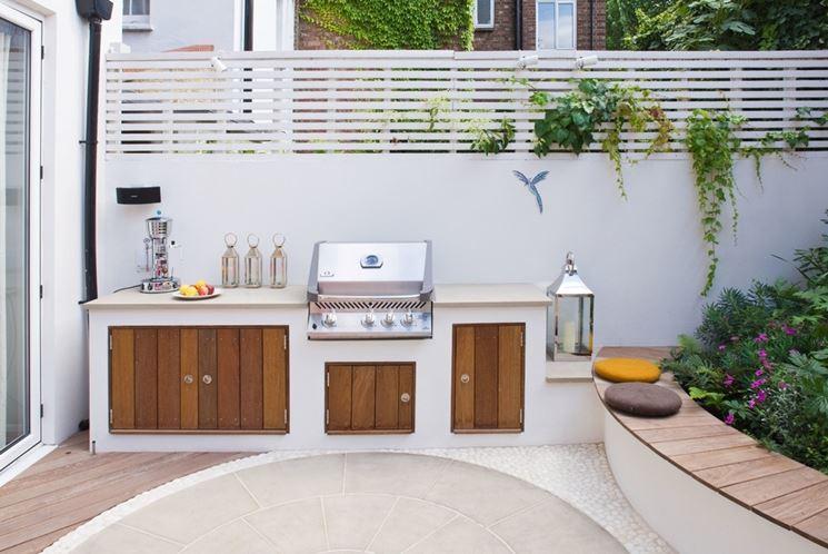 Costruire un barbecue professionale in muratura - Cucina sul terrazzo ...