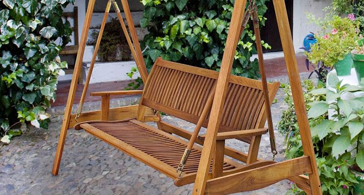 Dondolo Da Giardino In Legno : Dondolo da giardino in legno arredamento giardino dondolo in